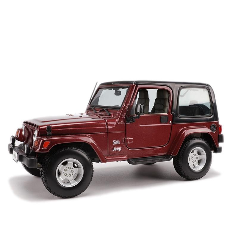 Maisto 1: 18 Model Alloy Car Model Jeep Wrangler SUV Willis Car Model Sahara