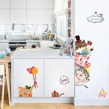 Декоративные самоклеящиеся наклейки на стену милые Креативные