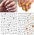 Модный лак для ногтей, задний клей, деколь декорации, дизайн ногтей, наклейка для ногтей, Типсы, красота