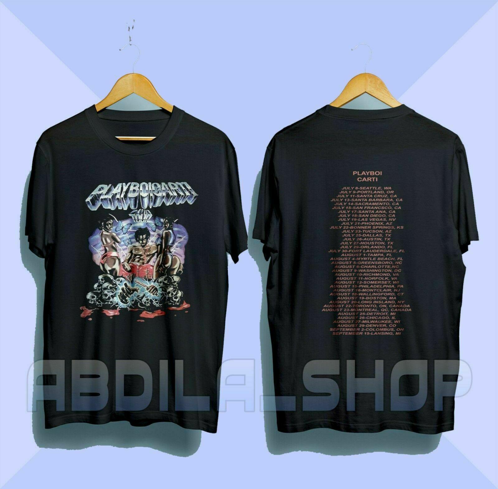 Vintage Playboi Carti Tour Merch Concert T-Shirt Rare Hip Hop Rap Size S-3XL