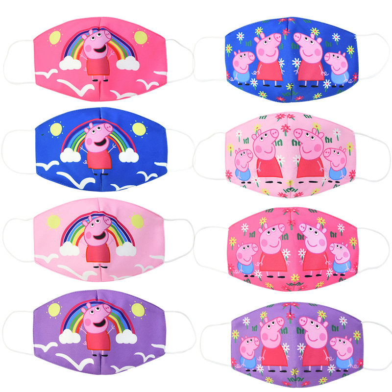 Peppa Pig Kids Mouth Face Masks Dustproof Smog-proof Washable And Reusable Child Protection Mask Anime Character Cosplay Masks