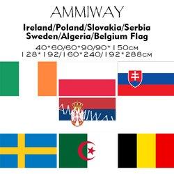 Ammiway qualquer tamanho irlanda polónia eslováquia sérvia suécia argélia bélgica único duplo nacional mundial país bandeiras e banners
