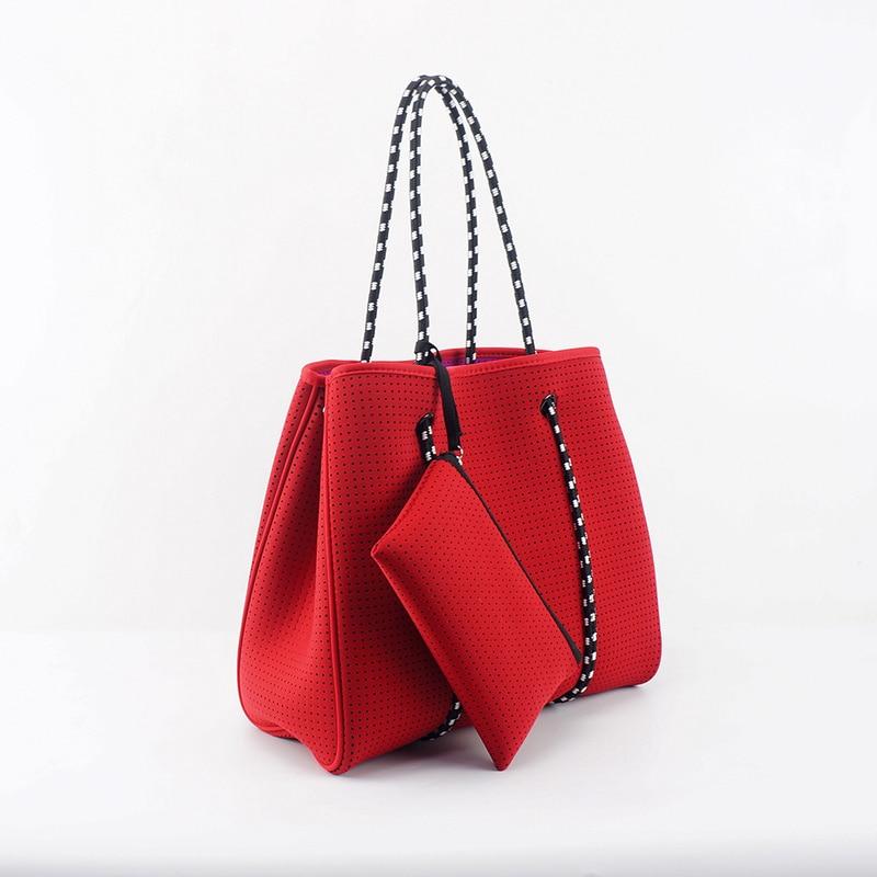 Beach Tote Purses And Handbag  Neoprene Shand Bag Hot Selling Perforated Neoprene Bag Beach Bag   Bags For Women