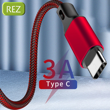REZ USB Type C Cable to For Oneplus 6T Red Fast Charging Type-C kabel Usb Data Wire Mi USB-C провод кабель