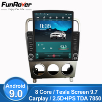 FUNROVER 2.5D IPS Android 9.0 9.7 Tesla screen Car Radio Multimedia Player Navigation For Subaru Forester 2004 2007 2din dvd GPS