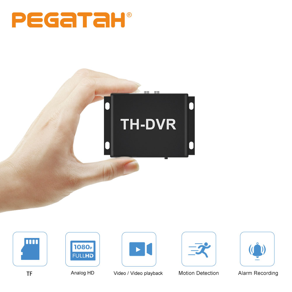 New 1080p Mini TH DVR Video Recorder Support  128GB SD Card Real Time Video Record Motion Detection Alarm In/out VGA