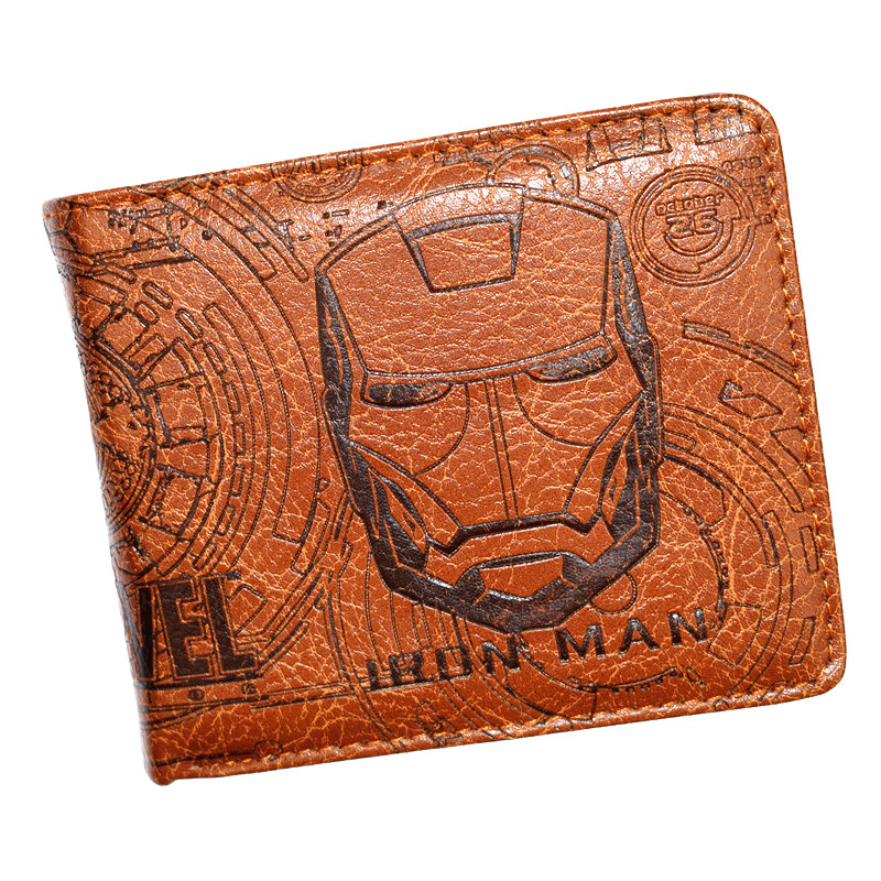 FVIP High Quality Iron Man Wallet Men's Purse With Coin Pocket