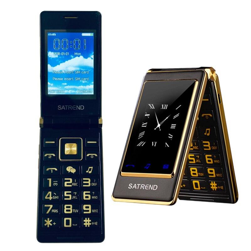 Фото. Флип старший телефон 3,0 дюйм двойной Дисплей Две сим Сенсорный экран MP3 MP4 FM Вибрация больш
