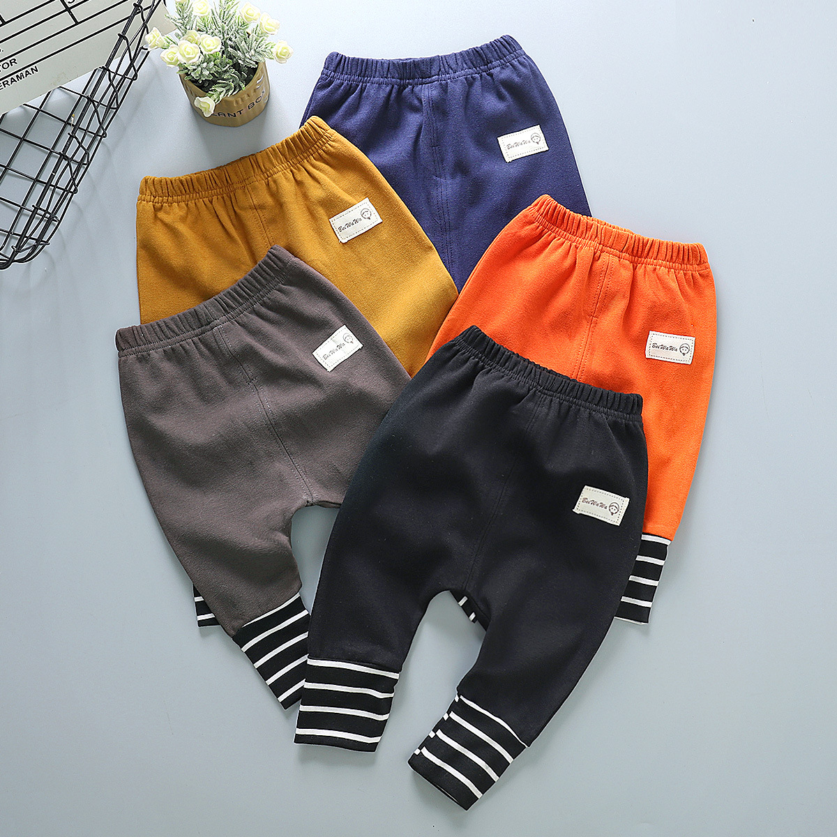 Baby Boys girls Trousers For Girls Hot Arrival Stripe splicing PP Pants Newborn Toddler Harem Pants Fashionable Variety Of Pants