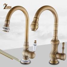 Kitchen Faucets Antique Color Cozinha Faucet Brass Swivel Spout Kitchen Faucet Single Handle Vessel Sink Mixer Tap цена 2017