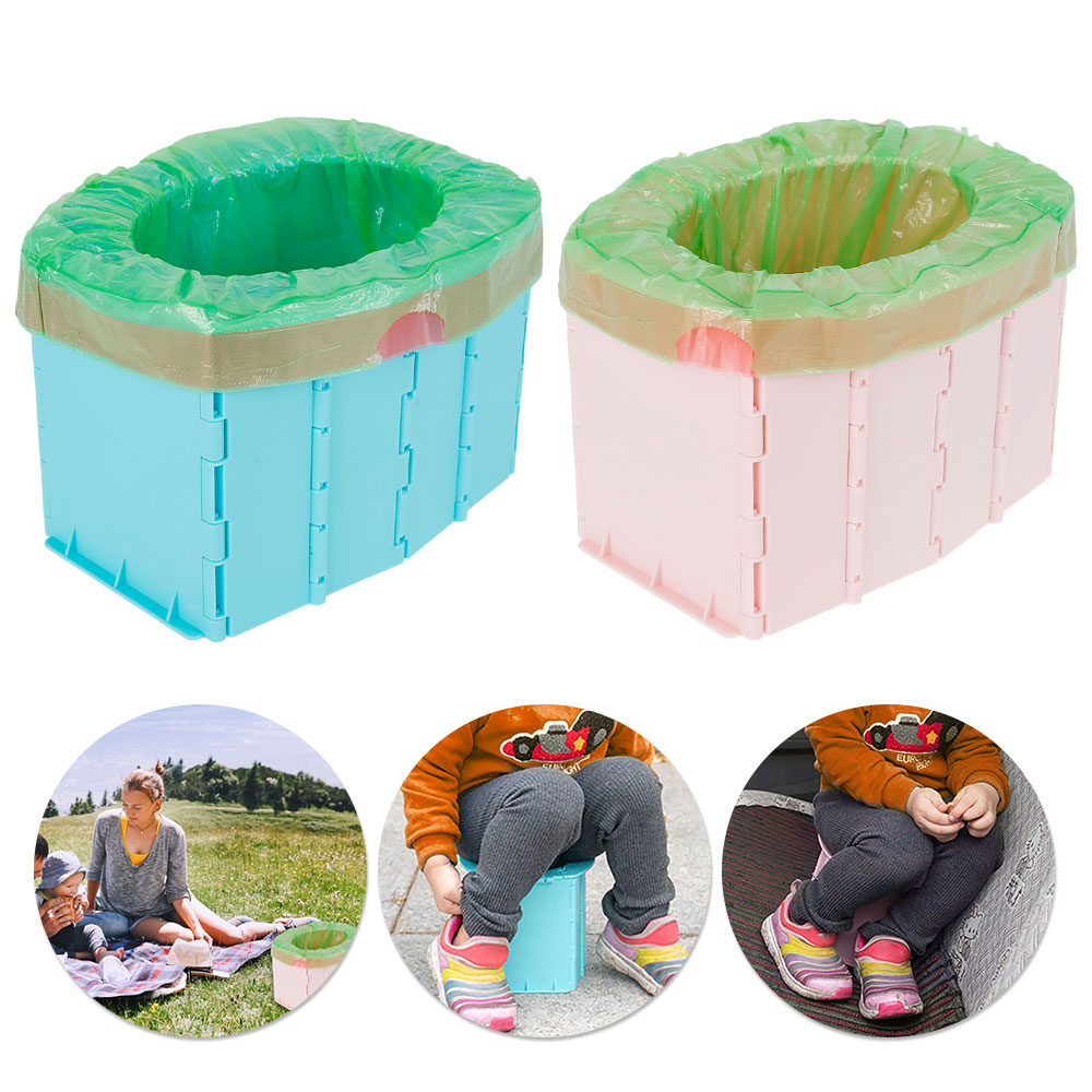 Portable Baby Potty Toilet Seat Car Outdoor Travel Camping Kids Potty Training Seat Children's Folding Potty Toilet