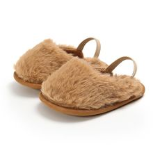 Fashion Faux Fur Baby Shoes Cute Infant Baby
