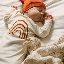 Round-Hat Sleeping-Sack Baby-Girls Summer Breathable-Kit Rainbow-Printing Sweet-Style