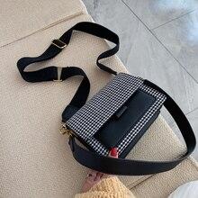Vintage Houndstooth Cross Body Bags for Women 2020 Travel Messenger Hand