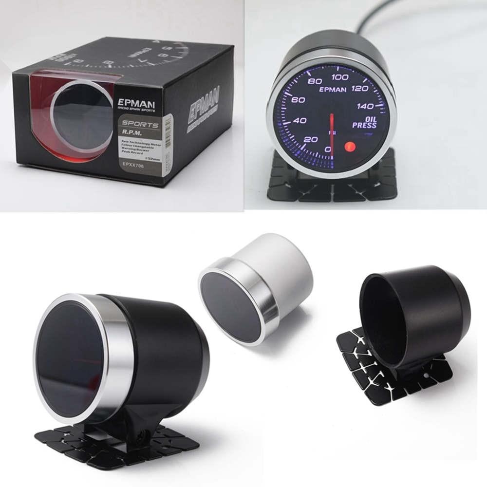 cheapest EPMAN Universal Auto 12V 52mm 10Color Racing Car Oil Pressure Water Oil Temp EGT Exhaust Temp Turbo Boost Tachometer Gauge Meter