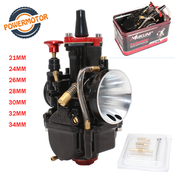 New 21 24 26 28 30 32 34mm Universal Black Mikuni Maikuni PWK Carburetor Parts Scooters for 2T 4T With Power Jet  Motorcycle ATV