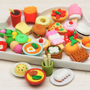 Image 5 - Lote de 20 unidades de gomas de borrar en 3D, simulación de fruta, comida, animales, herramientas, gomas de borrar en blíster para coche, modelo 32 para choic