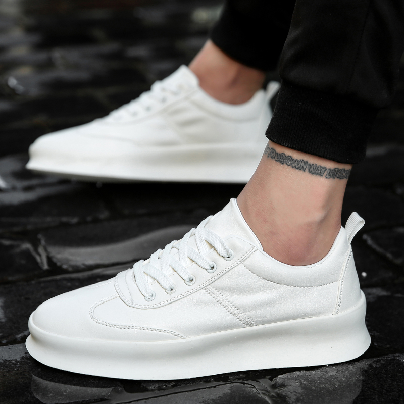 Men White Flat Shoes Lace-up Comfortable Sneaker For Male Tenis Masculino Adulto Top Quality Men Casual Shoes High Increasing