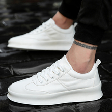 Men White Flat Shoes Lace up Comfortable Sneaker For Male Tenis Masculino Adulto Top Quality Men Casual Shoes High Increasing