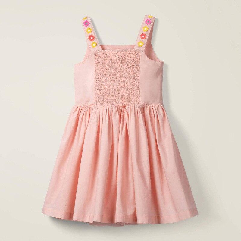 Little maven dress Girls 2021 Summer Clothes Floral Applique Summer Princess Cotton Dresses Flower Print Cotton Party Dresses 2