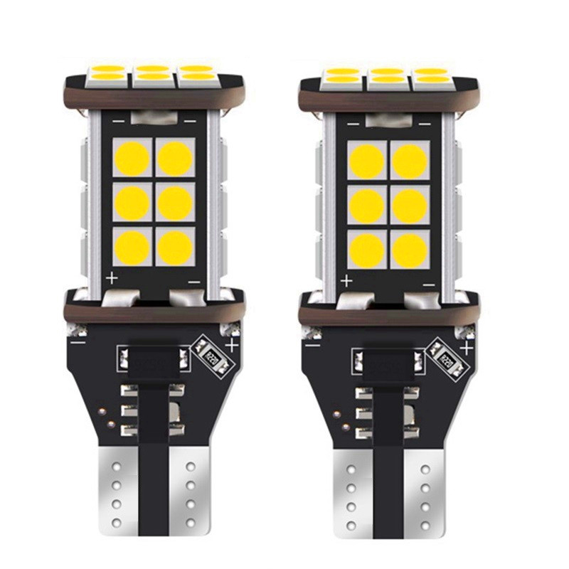 2X CAN-bus Error Free T15 W16W LED Bulbs For <font><b>BMW</b></font> E60 E61 F10 F11 5 Series Mini Cooper Car Backup Reverse Lights Xenon White image