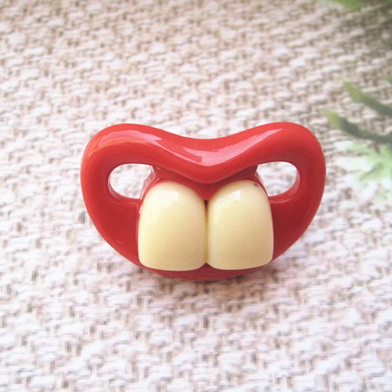 1Pcs Funny Silicone Funny Nipple Dummy Baby Soother Joke Prank Toddler Kid Pacifier Baby Care Pacy Orthodontic Nipples Teether in Pacifier from Mother Kids