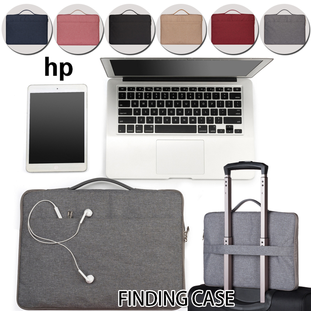 Side Zipper Waterproof Laptop Sleeve Bag Notebook Case For HP OMEN 17/OMEN By/Pavilion 15 Solid Travel Convenient Computer Bag