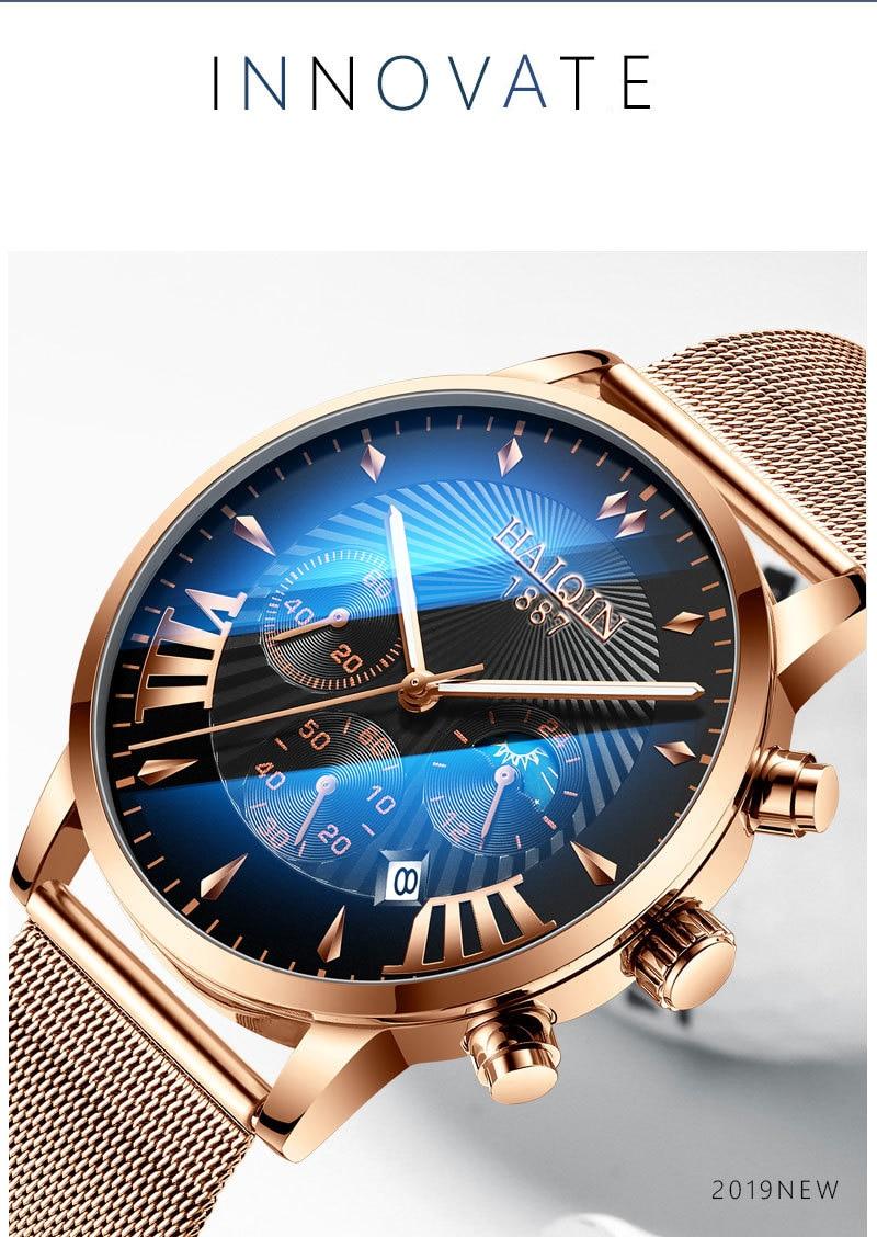 Ha61a9f907b3c44f793d48c830079b8b50 HAIQIN 2019 Fashion Mechanical mens watches top brand luxury sport wristwatch men waterproof Quartz mens clock Relogio Masculino