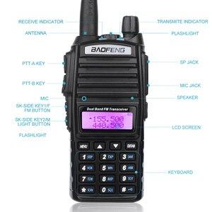 Image 4 - Bộ Đàm BaoFeng UV 82 2 Băng Tần 136 174Mhz (VHF) 400 520Mhz (UHF) 5W 2 Chiều Đài Phát Thanh Cầm Tay Máy Bộ Đàm