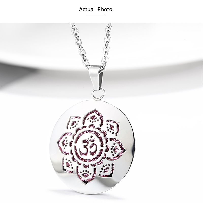 Aromatherapy Essential Oil Diffuser Locket Necklace (55)