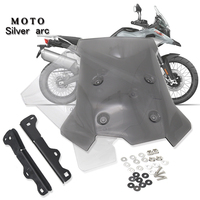 motorcycle front windshield windscreen + sun visor holder for BMW F750GS F850GS F 750 F 850 GS 2018 2019 Acrylic Transparent