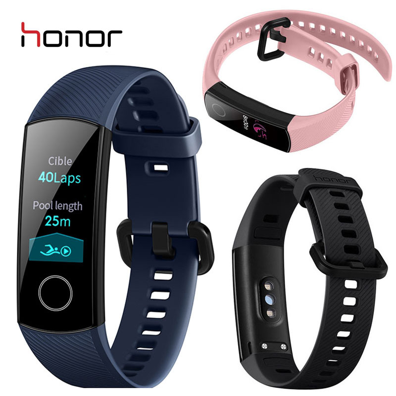 Honor Band 4 Smart Wristband Amoled Color 0.95'' Touchscreen  Heart Rate Sleep Snap Swim Posture Detect 50m Waterproof