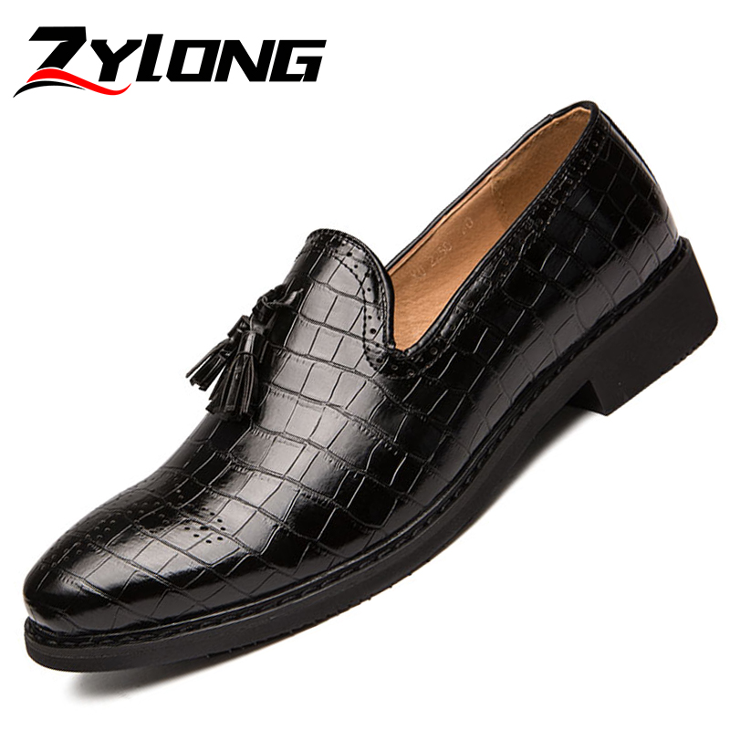 EUR taille 38-48 Top qualité chaussures formelles hommes bout pointu en cuir chaussures d'été de luxe sans lacet gland robe chaussures noir marron vert