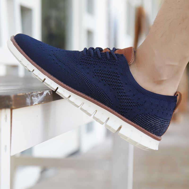 חדש רשת גברים נעליים יומיומיות Lac למעלה גברים קלת משקל נוח לנשימה הליכה סניקרס Tenis Masculino zapatillas Hombre