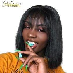 Nadula волосы 13*4 парик на кружеве короткие человеческие волосы парик 8-14 дюймов прямой боб парик для женщин бразильские волосы remy натуральный