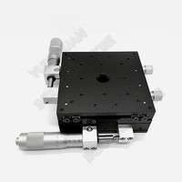 XY Axis 100*100mm  4\ Trimming Station Manual Displacement Platform Cross Roller Guide Way Linear Stage Sliding Table LY100-R