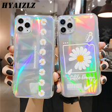 Laser Colorful Phone Case for Huawei P40 P30 Mate 30 Pro Nova 7 SE Honor V30 30 Pro Smiley Flowers Pattern Soft TPU Bling Cover esr phone case for 2020 huawei p40 p40 pro p30 mate 30 pro honor v30 v30 pro soft tpu plating frame bumper case