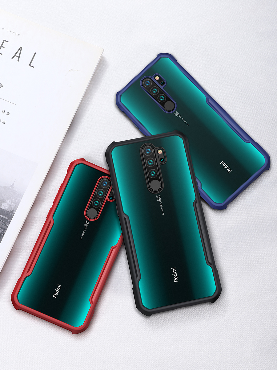 Ha61b6eb5b84844449c6e8a8378b2c56bs For Xiaomi Redmi Note 8 чехол XUNDD Airbags Shockproof Transparent PC +TPU Bumper Back Cover for Redmi Note 8 Pro Case Funda