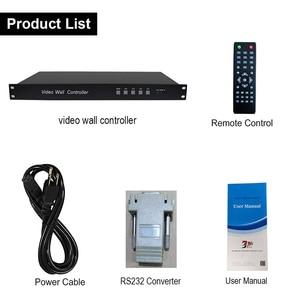 Image 5 - SZBITC 3x3 Video duvar denetleyicisi HD Splitter 1 9 out DVI VGA USB ses Video duvar işlemcisi 180 döndür uzaktan kumanda ile