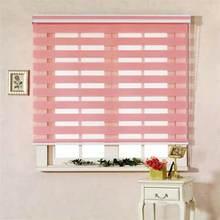 Zebra blinds curtain bouble layer roller for custom size zebra