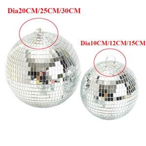 Image 3 - Thrisdar Dia25CM 30センチメートルガラスミラーディスコボールホームパーティーktvバーショップホリデークリスマス反射ディスコボールライト