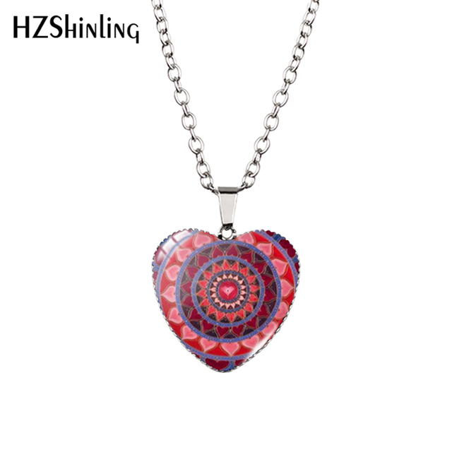 Heart Pendant and Flower of Life