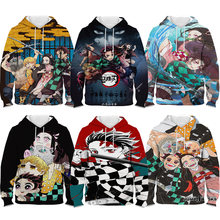 Children demon slayer hoodie kids kimetsu no yaiba 3d print