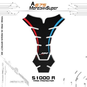 3D motocicleta para BMW S1000RR S 1000 RR BM-02 almohadilla de tanque de combustible reflectante fibra de carbono hueso negro