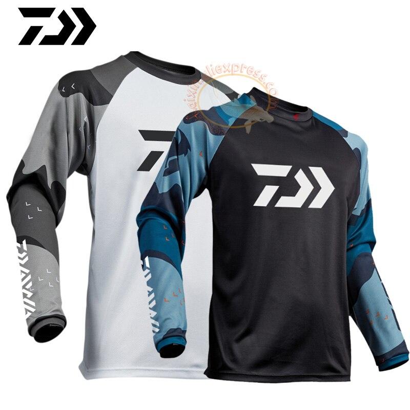 2020 Daiwa Men T Shirt Custom Cycling Fishing Jersey Quick Dry Fishing Motocross