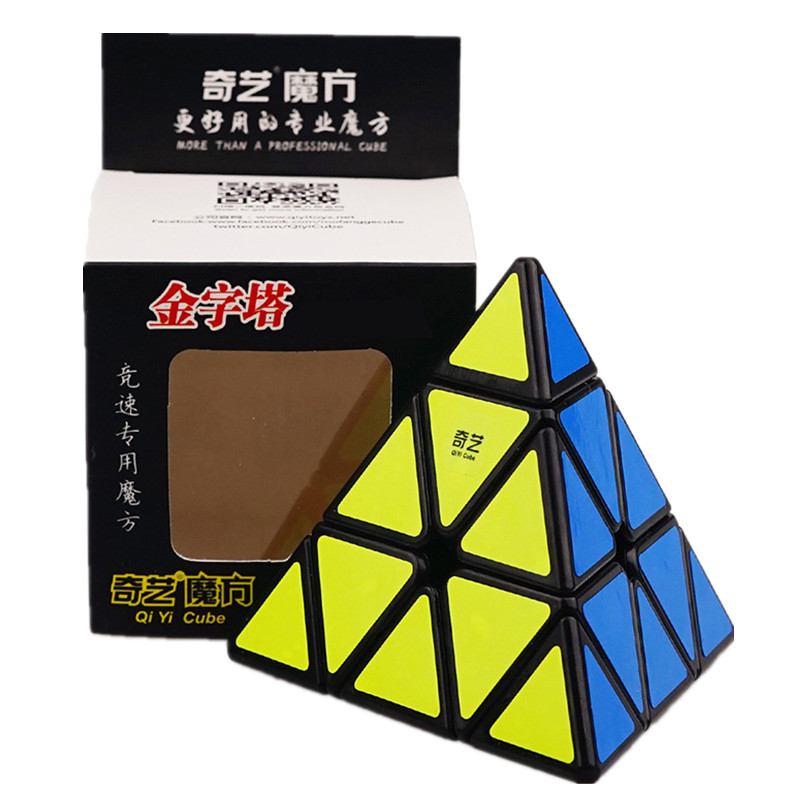 Qiyi Triangle Pyramid Magic Cube 3x3x3 Puzzle Speed Cubes For Kids Toys Gift Children Education Toy Wholesale