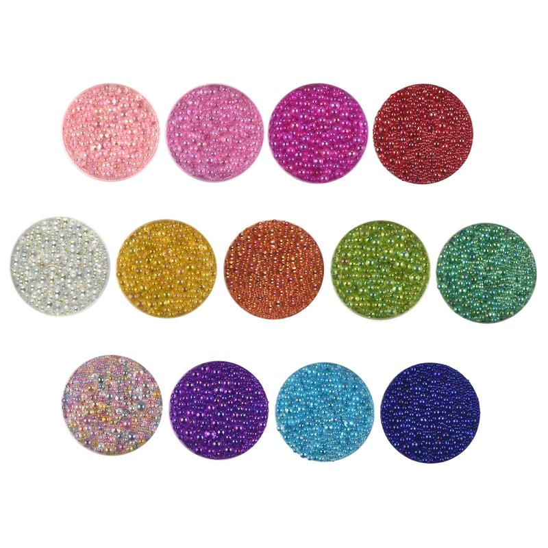 Mix Size Bubble Beads Dream Macaron Color For Silicone Mold Resin Filling DIY Nail Art Decor| |   -