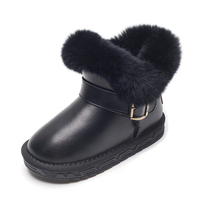 Ankle Boots Girls Fashion Winter Shoes Kids 2019 Snow Boots Children Real Leather Shoes Waterproof Warm Kids Boots With Fur
