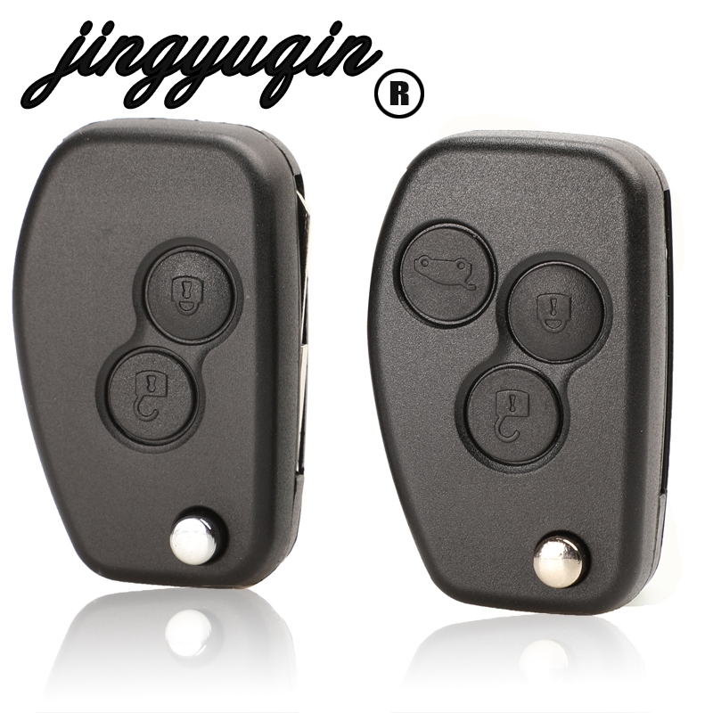 Складной дистанционный ключ jingyuqin VAC102 для Renault Megane Dacia Modus Espace Duster Clio, с 2 кнопками, чехол-брелок