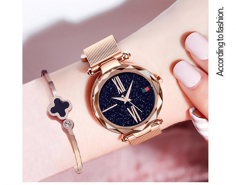 Relojes de lujo chapa oro rosa para mujer 3